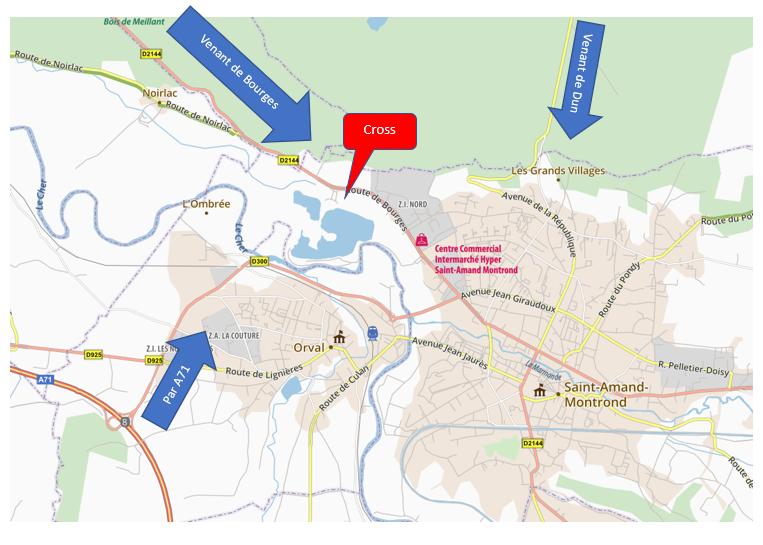 Comment se rendre sur le site de Virlay à Saint Amand Montrond